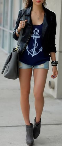 Love the Nautical Anchor Tee <3