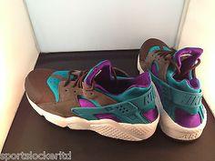 6365f34b8a61 Nike Air Huarache LE Bright Teal Purple Black Last Shot 318429 263  SportsLocker