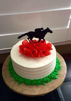 Race Horse themed Happy Birthday Cake