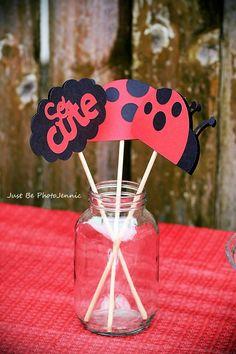 Ladybug Centerpieces - Ladybug Birthday Party - Baby Shower. $14.00, via Etsy.