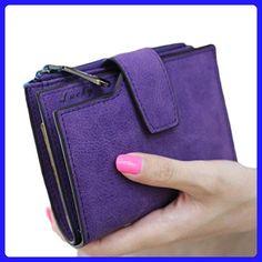 GBSELL New Women Mini Grind Magic Bifold Leather Wallet Card Holder Purse (Purple) - Wallets (*Amazon Partner-Link)