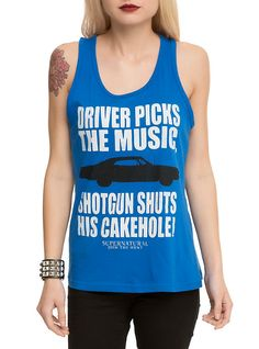 Supernatural Driver Picks The Music Girls Tank Top 1a2612fce