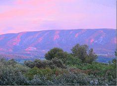 Luberon mountains at dusk