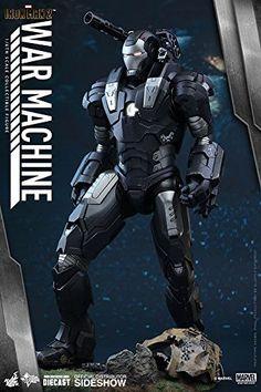 && Hot Toys Marvel Iron Man 2 Diecast War Machine 1/6 Scale Figure