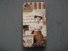 A Boy in vintage decoupage case  for iPhone4 / 4s/ Cover case / Hard Case / Accessories / smartphone on Etsy, ฿527.21