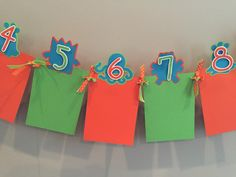 Monster Theme 1-12 Month Photo Banner by TookiesLLC on Etsy