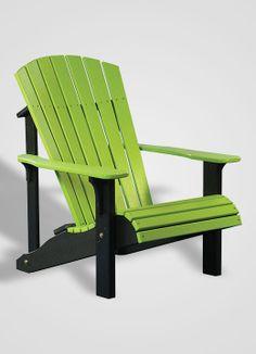 Deluxe Adirondack Chairu2014Lime Green U0026 Black