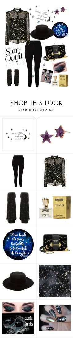 """Star 🌠"" by torawhite ❤ liked on Polyvore featuring Betsey Johnson, Miss Selfridge, RED Valentino, Moschino, Prada, Janessa Leone and StarOutfits"