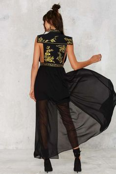Nasty Gal Empress Embroidered Dress - Newly Added | Midi + Maxi | Dresses | Dresses