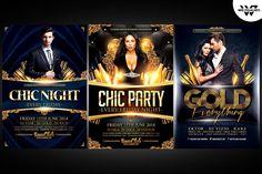 VIP Flyer Bundle by WG-VISUALARTS on @creativemarket