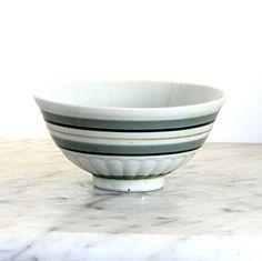 Vintage Striped Ceramic Bowl by jillbent on Etsy, $10.00