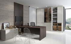 fotos de mesas de escritório planejadas