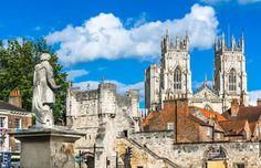 York, North Yorkshire, England, UK - David Ionut/Shutterstock City Breaks Uk, England Top, York England, Visit York, Book Cheap Hotels, Yorkshire England, North Yorkshire, York Hotels, York Minster