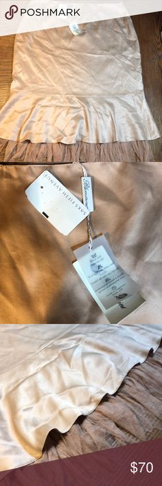 Blumarine skirt Blumarine silk skirt NWT size 46, size 14 in US. unique one of a kind piece !! All offers welcomed !!!❤️❤️❤️❤️ Blumarine Skirts