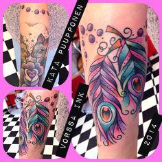 https://www.facebook.com/VorssaInk, http://tattoosbykata.blogspot.fi, #tattoo #tatuointi #katapuupponen #vorssaink #forssa #finland #traditionaltattoo #suomi #oldschool #pinup #feather