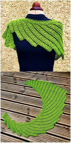 Superb Crochet Designs With Free Patterns - Latest ideas information Col Crochet, Crochet Wrap Pattern, Crochet Cozy, Crochet Headband Pattern, Thread Crochet, Crochet Scarves, Free Crochet, Crochet Poncho, Crochet Shawl Diagram