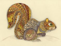 Ornation Creation - Squirell - Colored | Flickr - Photo Sharing!