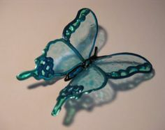 Decorative Butterflies Upcycled Plastic Bottle Art