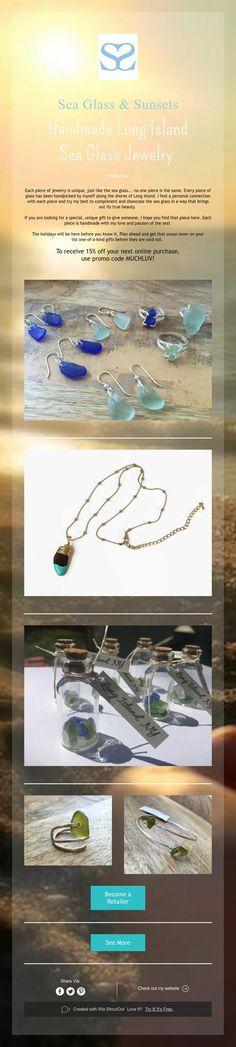 Sea Glass & Sunsets  HandmadeLong Island  Sea Glass Jewelry