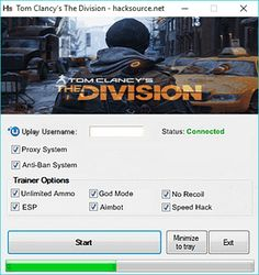 Download Tom Clancy's The Division Hack for free below. No surveys nor viruses here. Just click an ad at the top of my page to make me some profit and I'll be fine. Tom Clancy's The Division is game of third-person shooter genre. Action takes place in open-world RPG climate. Game was produced... https://hacksource.net/tom-clancys-the-division-hack/