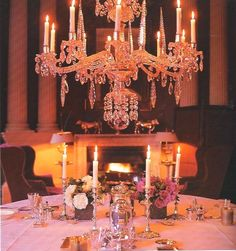 David Hicks: My parents dining room at Britwell. They weren't kidding around with the chandelier.