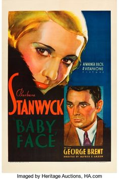 """Movie Posters:Drama, Baby Face (Warner Brothers, 1933). One Sheet (27"""" X 41"""").. ..."""