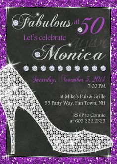 Get your glam on with this fabulous birthday party invitation this high heels birthday party invitation by asyouwishcreations4u stopboris Images