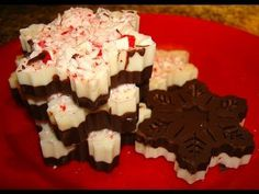 Peppermint Bark Snowflakes DIY