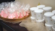 Favor containers - Baby A's 1st Birthday- Twinkle, Twinkle, Little Star Themed Party   How Sweet This Is