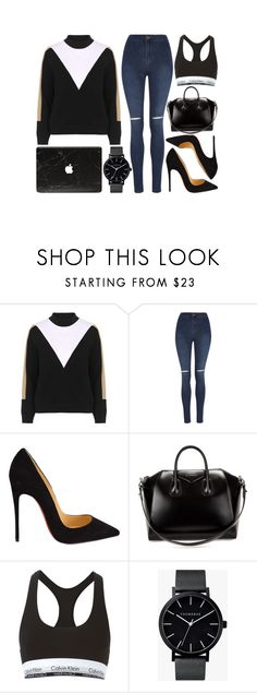 """""""Untitled #801"""" by kendalcanswim ❤ liked on Polyvore featuring moda, Topshop, George, Christian Louboutin, Givenchy, Calvin Klein Underwear, The Horse, women's clothing, women's fashion i women"""