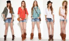 Mujeres con diferente outfit en short