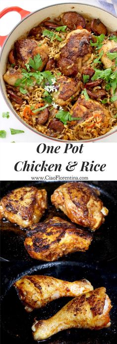 One Pot Chicken and Rice with Andouille and Quick Cook Brown Rice | CiaoFlorentina.com @CiaoFlorentina