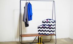 This piece is incredibly versatile. Great for an entryway, mudroom, or mobile closet.  / Get started on liberating your interior design at Decoraid (decoraid.com).