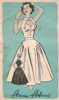 1950s dress pattern loversandhaters