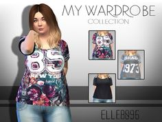 My Wardrobe Collection t-shirts by Elleb096 at TSR via Sims 4 Updates