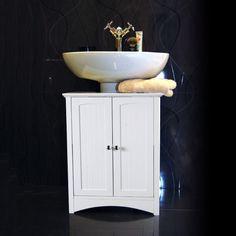 White Under Sink Bathroom Storage Cabinet: Amazon.co.uk: Kitchen & Home