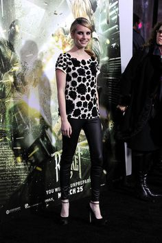 Emma Roberts, cute & chic at the premiere of 'Sucker Punch.'