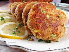 How to make the Best Salmon Patties - My Turn for Us This Salmon Patty Recipe consists of canned salmon, green onions, chopped celery and seasoned with lemon juice and fried. It makes the best Salmon Patties Canned Salmon Patties, Best Salmon Patties, Fried Salmon Patties, Canned Salmon Recipes, Salmon Patties Recipe, Fish Recipes, Seafood Recipes, Cooking Recipes, Recipe For Salmon Croquettes