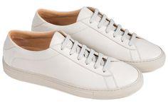Koio Collective Capri Nuvola - 13 (Us) / 46 (Eu) Gray White Sneakers, Leather Sneakers, White Tennis Shoes, Minimalist Shoes, Calves, Capri, Kicks, Beige, Collection