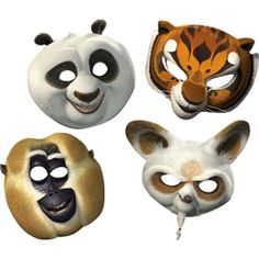 Kung Fu Panda 2 Masks (8 Pack) | $3.54 | http://www.discountpartysupplies.com/boy-party-supplies/kung-fu-panda-party-supplies/kung-fu-panda-2-masks.html