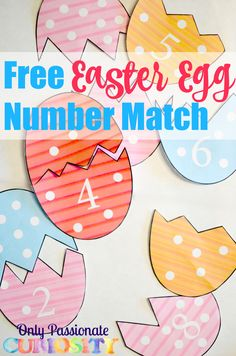Easter is almost here! I love putting together simple activities for the holidays to reinforce what the kids are learning. Today, I added this preschool printable to the shop. It's a simple, colorful pack for preschoolers to practice counting, matching and number recognition. Each egg has dots- your child can count the dots, and the [...]