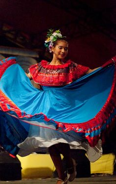 Folk dancer in Nicaragua. (V)