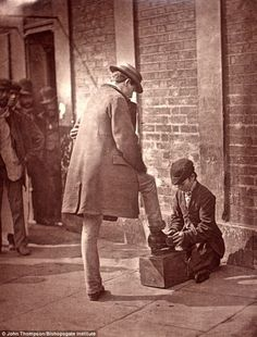Taken by John Thompson, In 1876 he set out with writer Adolphe Smith and together the pair spoke to people and the shots were later published in magazine, Street Life in London. The pictures, now stored at the Bishopsgate Institute..The exotic down and outs of Victorian London..