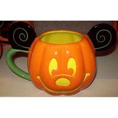 Disney Coffee Cup Mug - Halloween Pumpkin - Mickey Mouse Ears