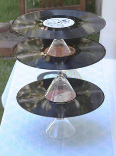 record/martini glass dessert stand