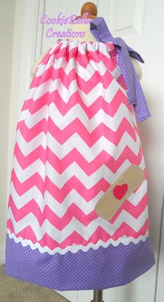 Doc McStuffins Inspired Pink Chevron by CookieBellaCreations