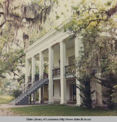Belle Alliance Plantation in Assumption Parish Louisiana :: State Library of Louisiana Historic Photograph Collection Old Southern Homes, Southern Plantation Homes, Southern Mansions, Southern Belle, Plantation Houses, Old Southern Plantations, Louisiana Plantations, Louisiana Homes, Greek Revival Architecture