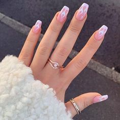 nails pink acrylic \ nails pink nails pink glitter nails pink and white nails pink acrylic nails pink and black nails pink ombre nails pink and blue nails pink short Simple Acrylic Nails, Clear Acrylic Nails, Summer Acrylic Nails, French Tip Acrylic Nails, Aycrlic Nails, Swag Nails, Coffin Nails, Manicures, Kylie Nails
