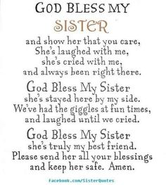Birthday quotes for cute sister cute sister quotes luxury god bless my sis sisters of cute . birthday quotes for cute sister the best Birthday Prayer, Birthday Verses, Brother Birthday Quotes, Best Birthday Quotes, Cute Sister Quotes, Sister Poems, Brother Quotes, Sister Messages, My Sister Quotes