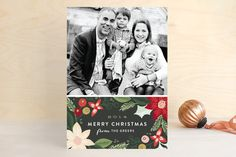 Holiday Florals Holiday Postcards by Alethea and Ruth at minted.com